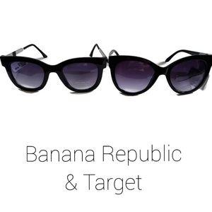 Banana Republic & Target Sunglasses Black New